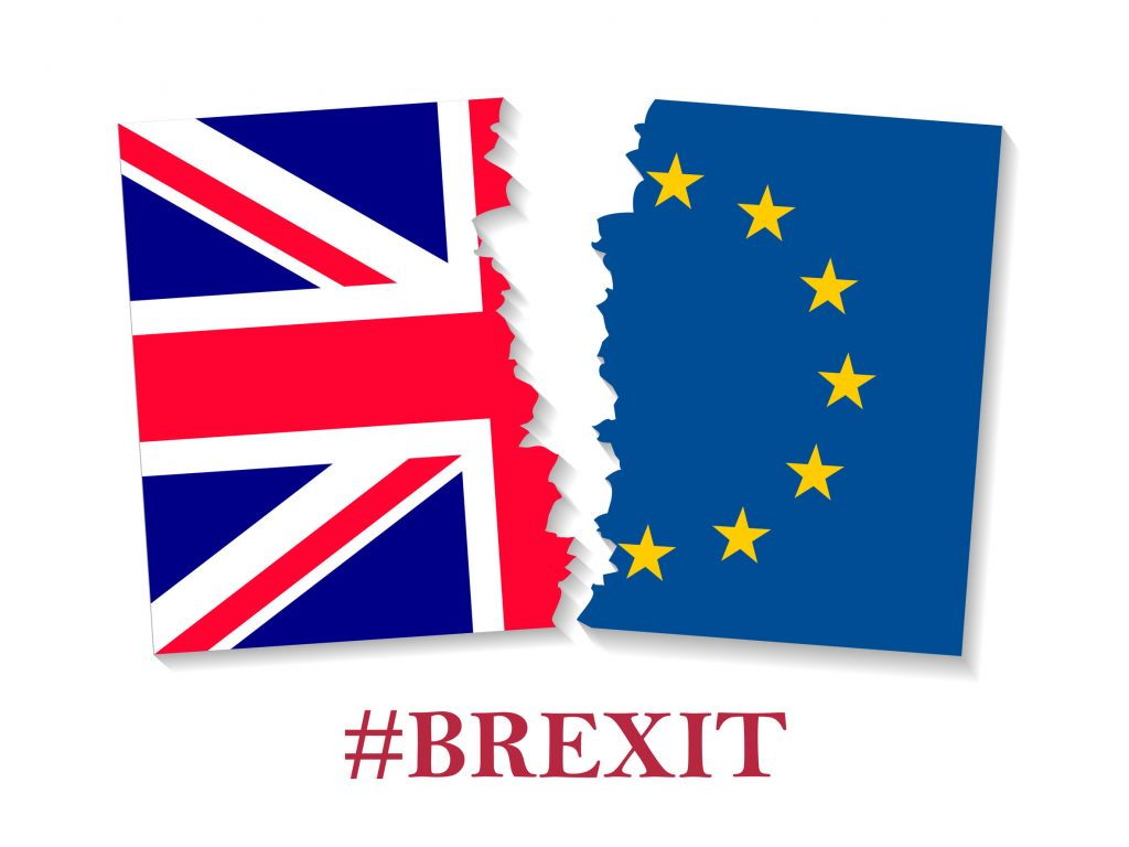 Brexit hashtag two parts of flags